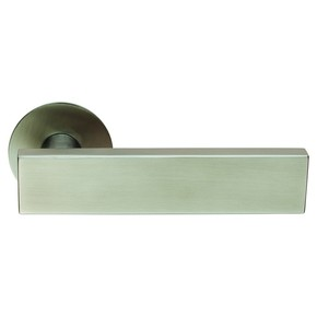 Steelworx Carla Door Handle on Rose