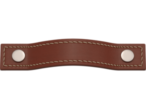Turnstyle Button Stitched Strap Cabinet Handle