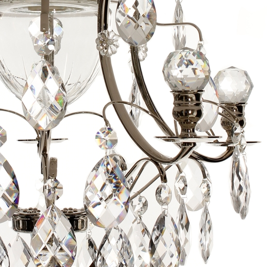 Chrome bathroom chandelier with crystal almonds and orbs gustavian treniq 1 1519740691178