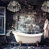 Chrome bathroom chandelier with crystal almonds and orbs gustavian treniq 1 1519740699871