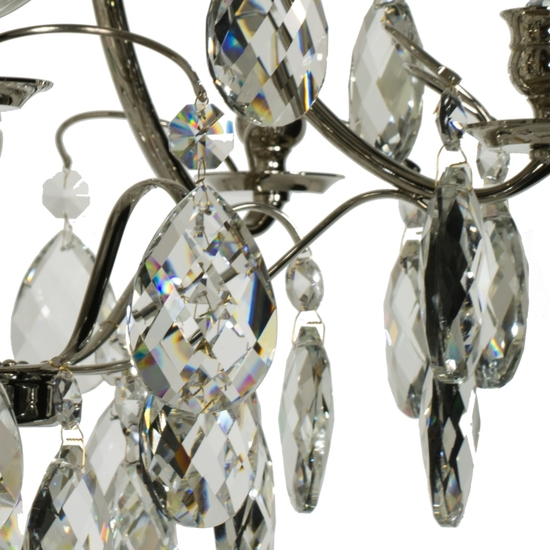 Chrome bathroom chandelier with crystal almonds and spears gustavian treniq 1 1519741467498