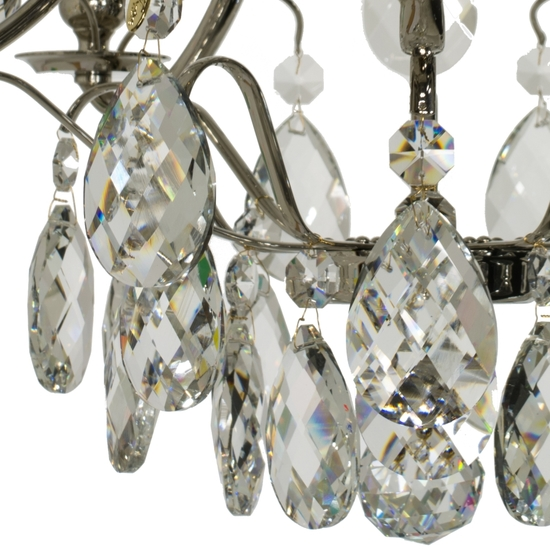 Chrome bathroom chandelier with crystal almonds and spears gustavian treniq 1 1519741472391
