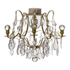 Brass bathroom chandelier with crystal pendeloqies and orbs gustavian treniq 1 1519744853340