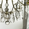 Brass bathroom chandelier with crystal pendeloqies and orbs gustavian treniq 1 1519744966113