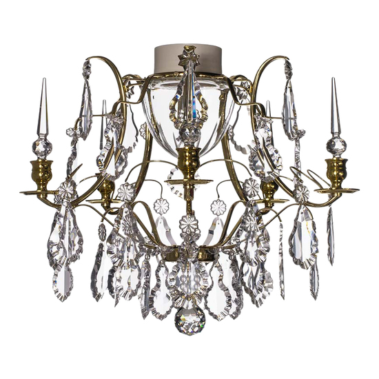 Brass bathroom chandelier with crystal pendeloques and spears gustavian treniq 1 1519745194478