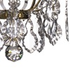 Brass bathroom chandelier with crystal pendeloques and spears gustavian treniq 1 1519745265523