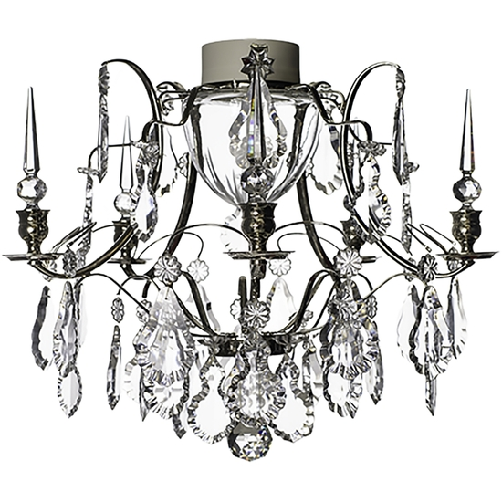 Chrome bathroom chandelier with crystal pendeloques and spears gustavian treniq 1 1519745825401