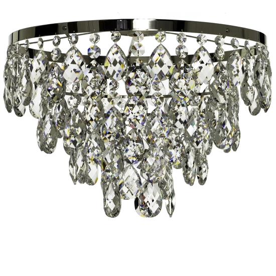 Chrome bathroom chandelier with crystals (low ceilings) gustavian treniq 1 1519746094679