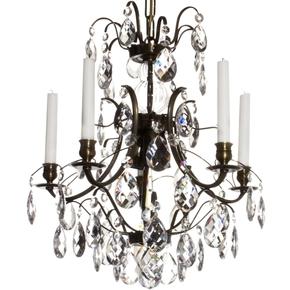 5-Arm-Crystal-Chandelier-In-Dark-Coloured-Brass-(Width:-42cm/16.5-Inches)_Gustavian_Treniq_0