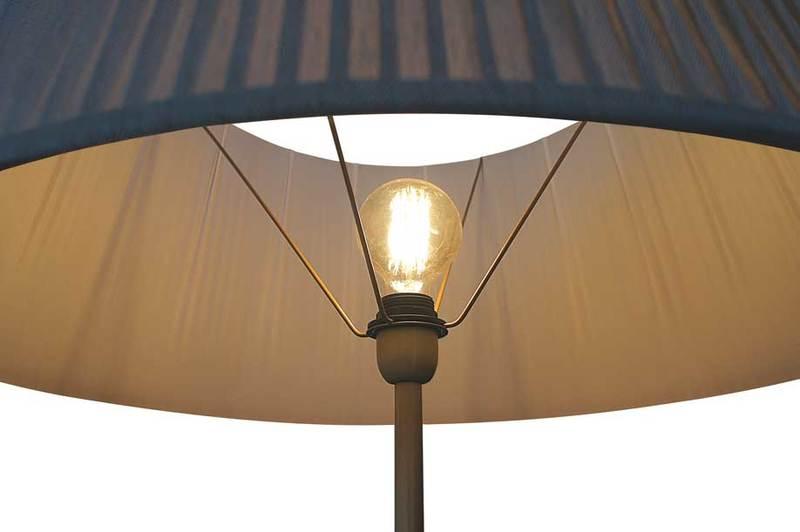 Floor lamp fiberglass brass pyro 6