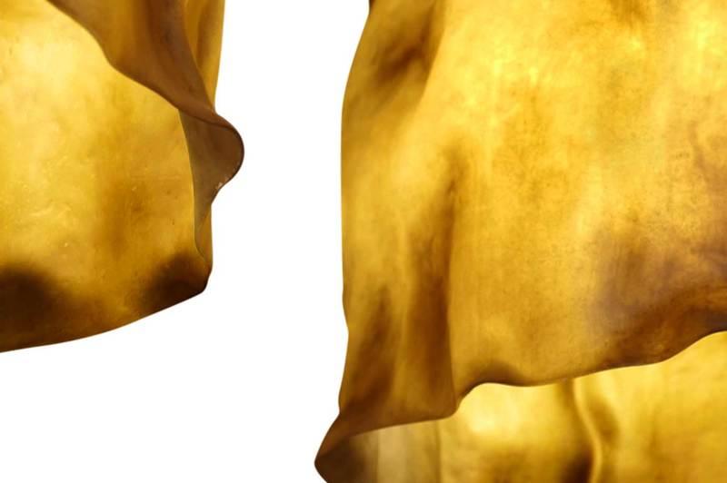 Suspension lamp fiberglass brass aged ruby 4