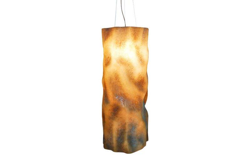 Suspension lamp aged natural ceramic vertigo 3