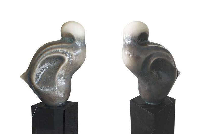 Sculpture fiberglass art olimpo 1