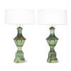 Pair of mid century majolica style porcelain baluster lamps sergio jaeger treniq 1 1520556598792