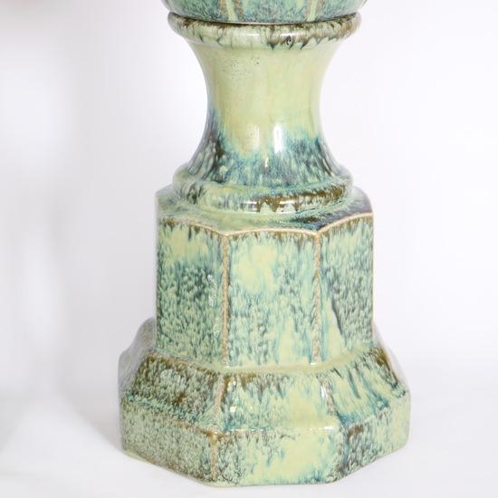 Pair of mid century majolica style porcelain baluster lamps sergio jaeger treniq 1 1520556607872