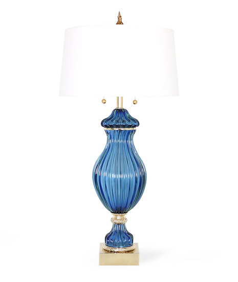Restored seguso for marbro blue murano glass ribbed lamp sergio jaeger treniq 1 1520557688264
