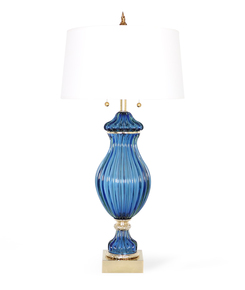 Restored-Seguso-For-Marbro-Blue-Murano-Glass-Ribbed-Lamp_Sergio-Jaeger_Treniq_0