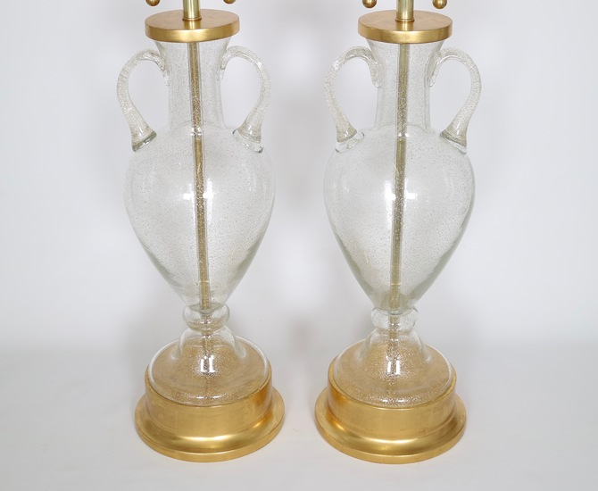 Murano glass urn lamps by seguso for marbro  pair sergio jaeger treniq 1 1520558417762