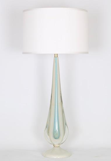Flavio poli for seguso sommerso lamp in blue and white with gold aventurine sergio jaeger treniq 1 1520651625428
