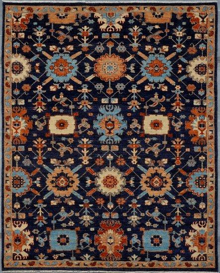 Vibrant navy chobi rug  talam   khaadi treniq 1 1520757978823
