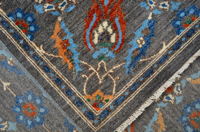 Vibrant gray chobi rug  talam   khaadi treniq 1 1520761359337
