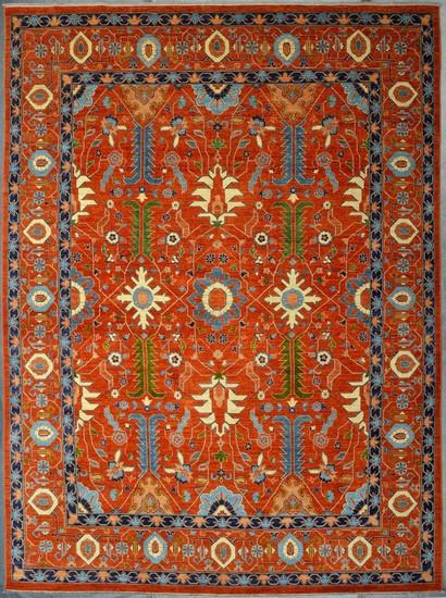 Heriz vibrant rust chobi rug  talam   khaadi treniq 1 1520761735815