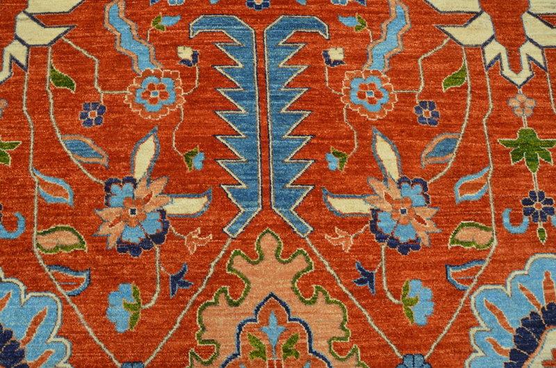 Heriz vibrant rust chobi rug  talam   khaadi treniq 1 1520761746999