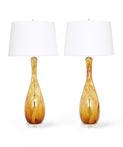 Seguso-Murano-Glass-Lamps-In-Amber-And-White_Sergio-Jaeger_Treniq_0