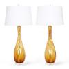 Seguso murano glass lamps in amber and white sergio jaeger treniq 1 1520917098542