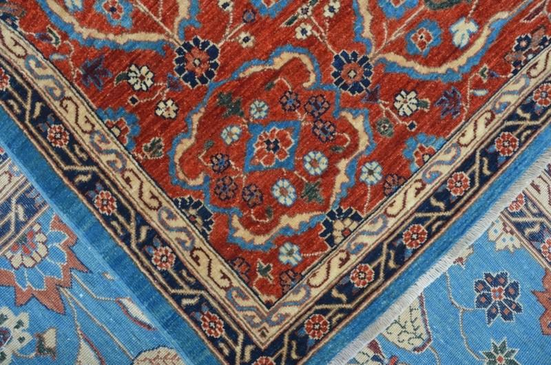 Tribal blue heriz nomadic rug talam   khaadi treniq 1 1521021434477