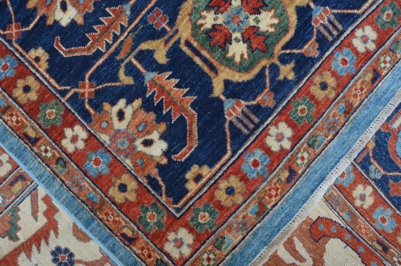 Tribal blue serapi nomadic rug talam   khaadi treniq 1 1521022286270