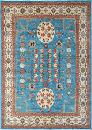 Blue khotan nomadic rug talam   khaadi treniq 1 1521092947302