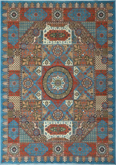Blue mamluk nomadic rug  talam   khaadi treniq 1 1521100049644