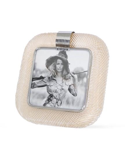 Venini %e2%80%98torciglione%e2%80%99 murano glass gold flakes photo frame with nickel accen sergio jaeger treniq 1 1521136820637