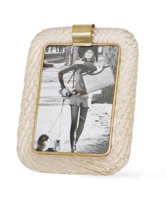 Venini-Torciglione-Murano-Glass-Frame-With-Gold-Infusions_Sergio-Jaeger_Treniq_0