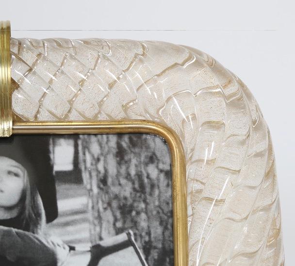 Venini torciglione murano glass frame with gold infusions sergio jaeger treniq 1 1521137443140