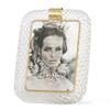 Venini torciglioni murano glass frame in clear glass with brass band on top sergio jaeger treniq 1 1521137686243