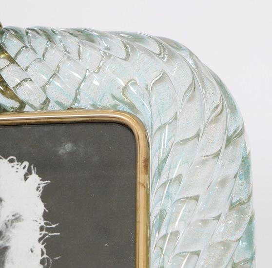 Venini torciglione murano glass frame in aqua with gold inclusions sergio jaeger treniq 1 1521137970648