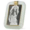 Venini torciglione murano glass frame in aqua with gold inclusions sergio jaeger treniq 1 1521138066322