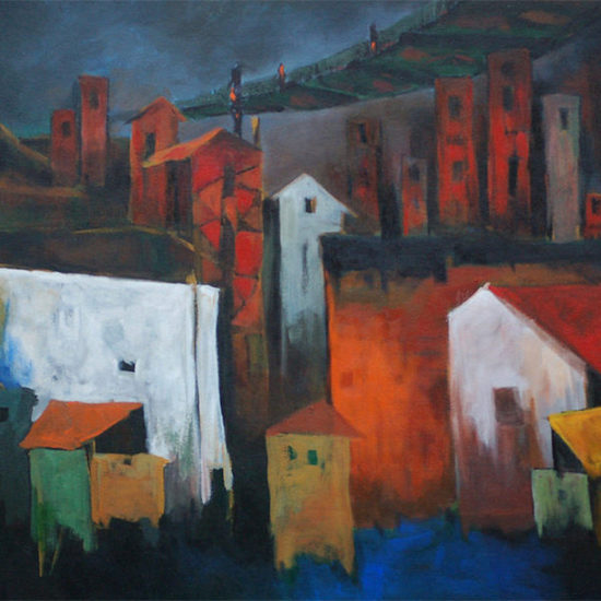 600x600 acrylic on canvas  the old city  nripen nath %c2%a31 250