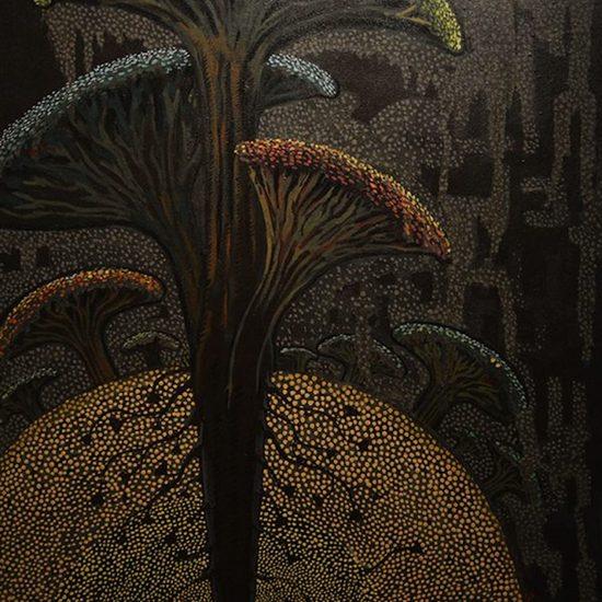 36x30 inches acrylic on canvas  nature sushanta roy %c2%a31250