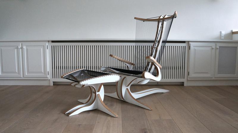 Hippokanp lounge chair   footstool peter qvist treniq 1 1521706107930