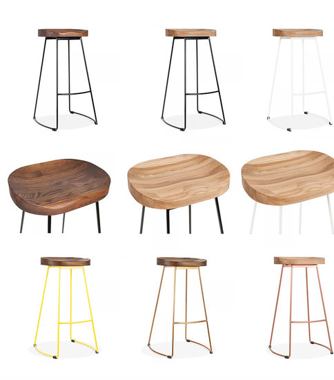Stockholm stool wood top metal base cielshop treniq 1 1522076131731