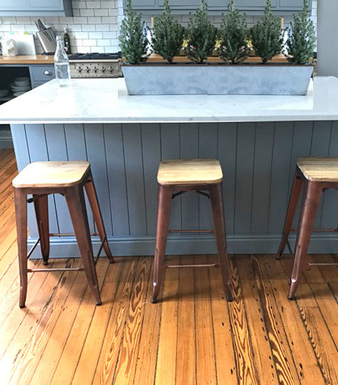 Counter height kitchen stool with wood top available in two heighta cielshop treniq 1 1522226288690