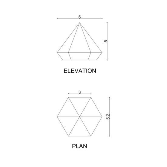 Hex paper weight pyd karan desai design treniq 4 1522233222333