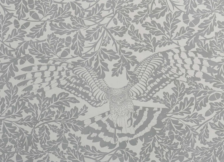 Hevensent forest dust dove grey wallpaper hevensent treniq 1 1522449789086