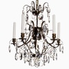 5 arm crystal chandelier in dark coloured brass gustavian style treniq 1 1522487323688