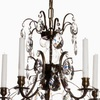 5 arm crystal chandelier in dark coloured brass gustavian style treniq 1 1522487323730