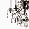 5 arm crystal chandelier in dark coloured brass gustavian style treniq 1 1522487323726