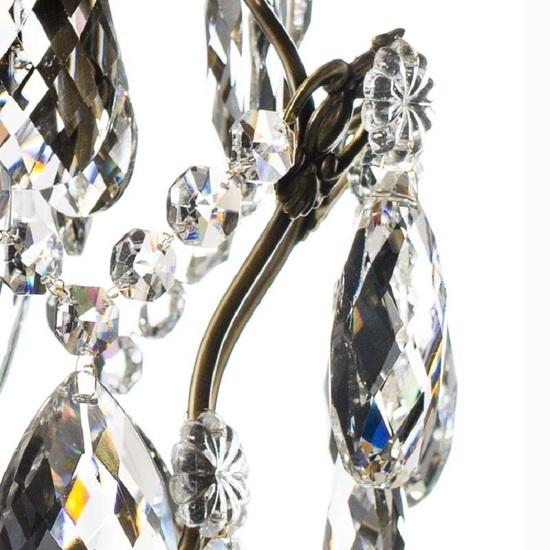 Ampel chandelier with crystals in dark brass gustavian style treniq 1 1522487739538